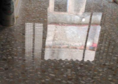 Pulido suelo terrazo  en planta baja casa.
